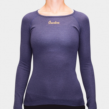 Damen 100% Merino LS Baselayer Maritime blue